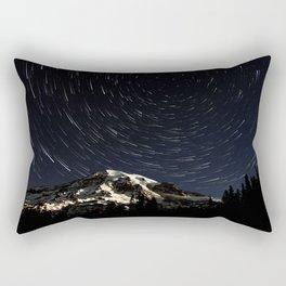 Mount Rainier Star Trails  Rectangular Pillow