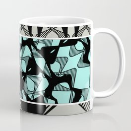 DISTORTION AND PERCEPTION PATTERN  - LIGHT BLUE & TURQUOISE Coffee Mug