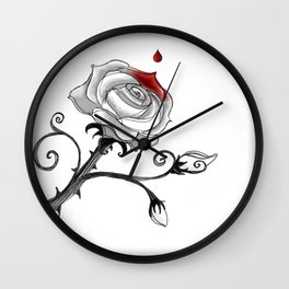 'Painting The Roses Red...' Wall Clock
