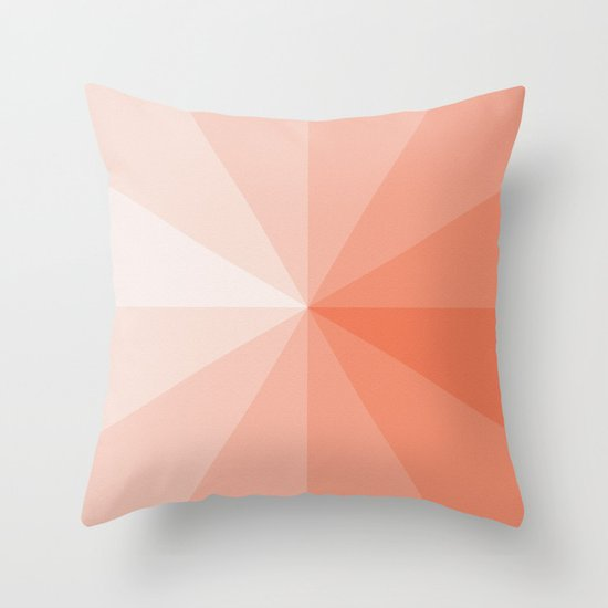 Throw Pillows Coral : coral Throw Pillow by Ktparkinson Society6