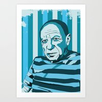 picasso Art Prints featuring Picasso by Alex Bardera
