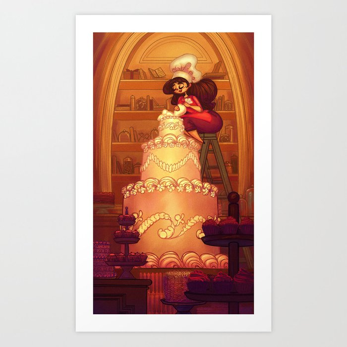 A Committed Baker Art Print