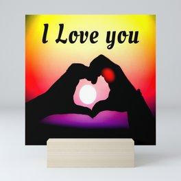 I Love You In Pop-art Mini Art Print