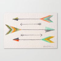 arrows Canvas Prints featuring Arrows by Hayley Lang