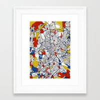 rome Framed Art Prints featuring Rome by Mondrian Maps