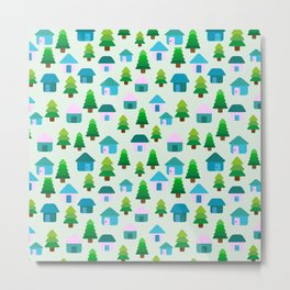 Home in Baby Mint Metal Print
