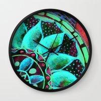 marina Wall Clocks featuring Marina by Tina Schofield