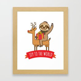 Sloth Joy Framed Art Print