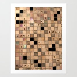 CROSSWORD LOVE Art Print