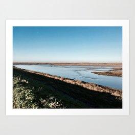 Norfolk tides Art Print