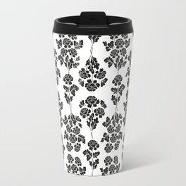 Black roses pattern Travel Mug