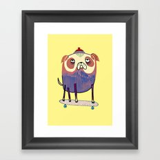 Pug Dude. Framed Art Print