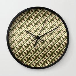 Batik Parang Green Pattern Wall Clock