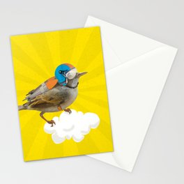 Little bird on little cloud Stationery Cards