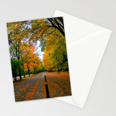 Fall road Stationery Cards