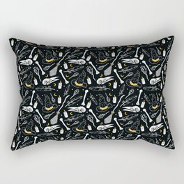Bewitching Witchy Pattern in Yellow Rectangular Pillow