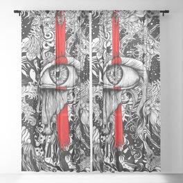 Red inked Eye Sheer Curtain