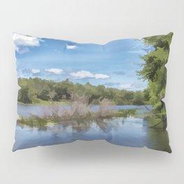 River Landscape Pillow Sham