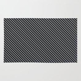 Sharkskin and Black Stripe Rug