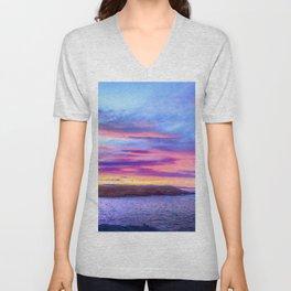 Biscay Bay sunset Unisex V-Neck