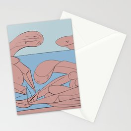 Picasso - On the beach Stationery Cards