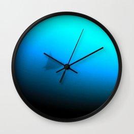 Lone mobula ray Wall Clock