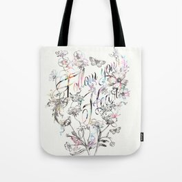 Follow your heart by Luca Johnson Tote Bag