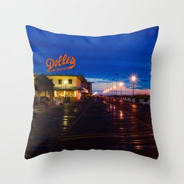 Early Morning at Dolles Coastal Landscape Photograph - Boardwalk Artwork Throw Pillow