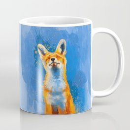 Happy Fox, inspirational animal art Coffee Mug