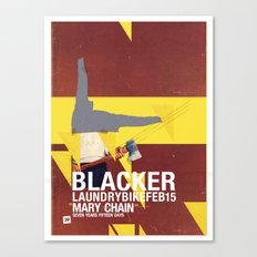Mary Chain & Blacker band poster Canvas Print