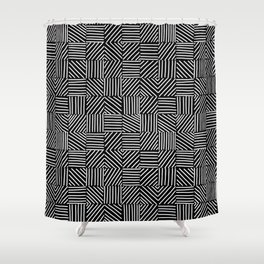 Sketching Abstraction Shower Curtain