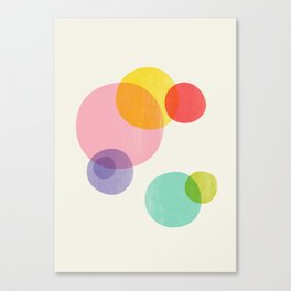 Rainbow Bubbles Canvas Print