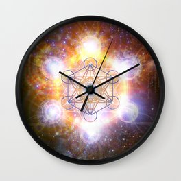 """Aad Guray Nameh""- Merkaba-  Protective energy of the Universe Wall Clock"