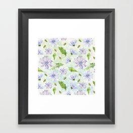 chicory - pattern Framed Art Print