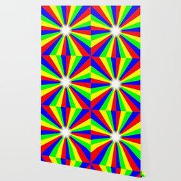 Mulri Colour Bright Ray Background Wallpaper