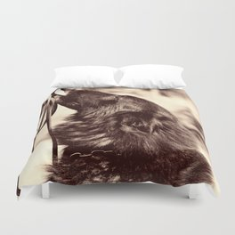 The love of a dog to man Duvet Cover