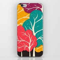 jazzberry iPhone & iPod Skins featuring Happy Forest by Danny Ivan