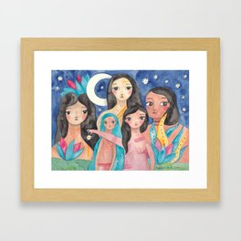 Sisters of the Moon Framed Art Print