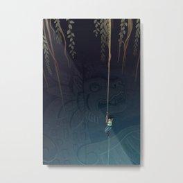 Descent into the Cenote Metal Print