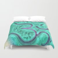 om Duvet Covers featuring Om by NPDesigns