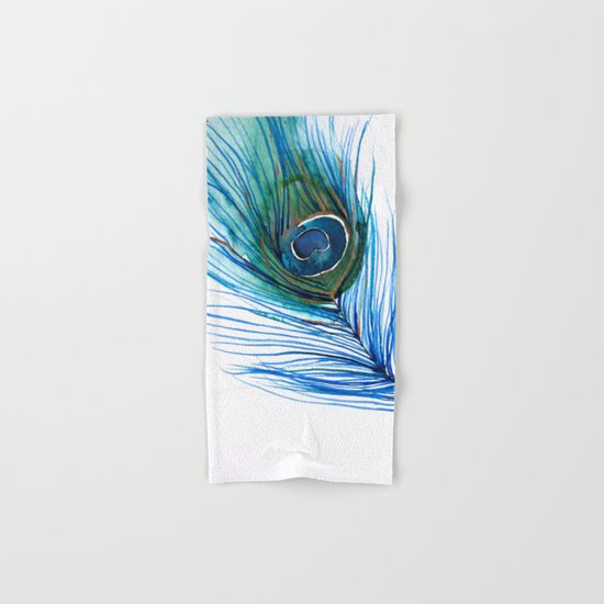 Peacock Feather I Hand & Bath Towel