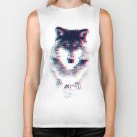 wolf Biker Tanks featuring Act like a wolf.  by Mason Denaro