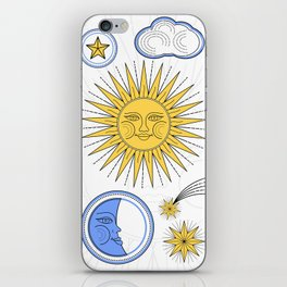 Vintage Sun and Moon iPhone Skin