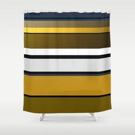 Golden Stripes Pattern Shower Curtain
