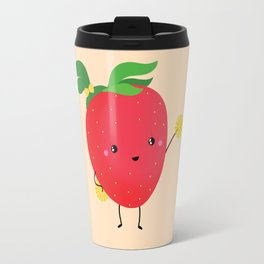 Strawberry cheers Travel Mug