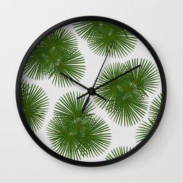 Fan Palm, Tropical Decor Wall Clock