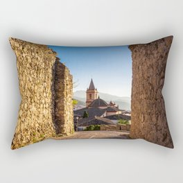 Church of Santa María de la Meza in Zahara de la Sierra in Spain Rectangular Pillow