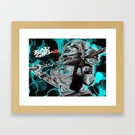 Bad Girl In Turquoise Blue Framed Art Print