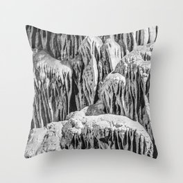 No Snow! But Structures In Dripstone Cave. Throw Pillow