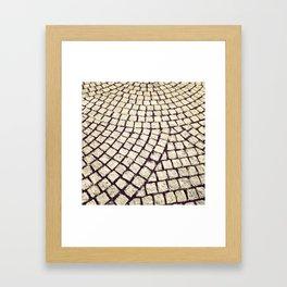 cobblestone pathway Framed Art Print
